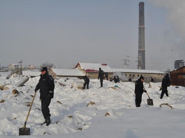 jandarmi si politisti pe urmele cadavrului
