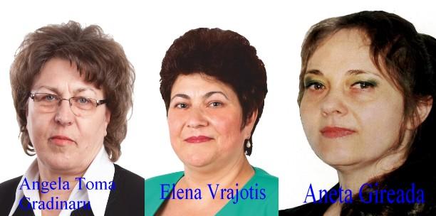 Elena Vrajotis- Angela Toma Gradinaru- Aneta Gireada