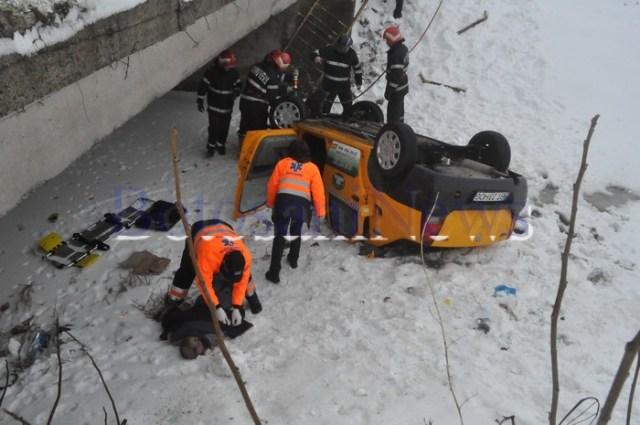 accident taxi stancesti- Botosani