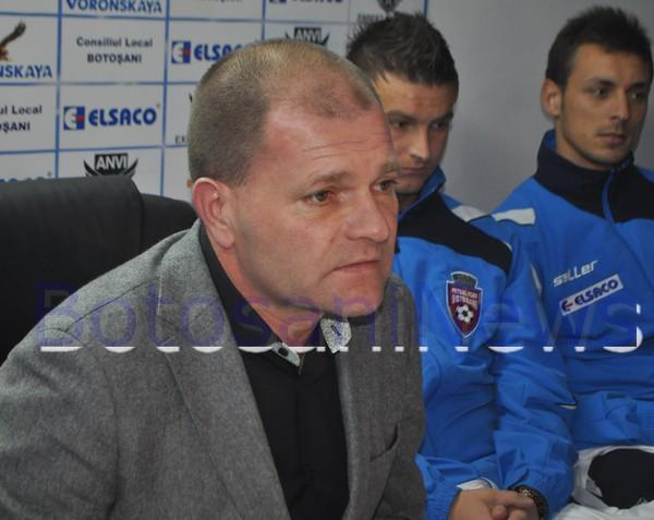 Cornel Sfaiter la conferinta de presa FC Botosani