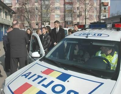 elevi la politie