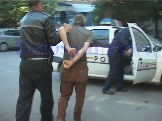 barbat agresiv politie botosani