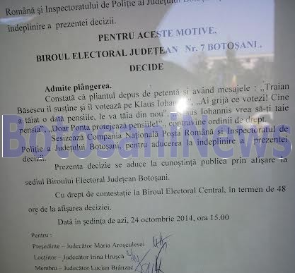 decizie BEJ Botosani