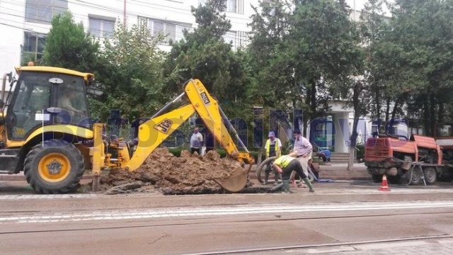 avarie Nova Apaserv pe strada Primaverii - Botosani