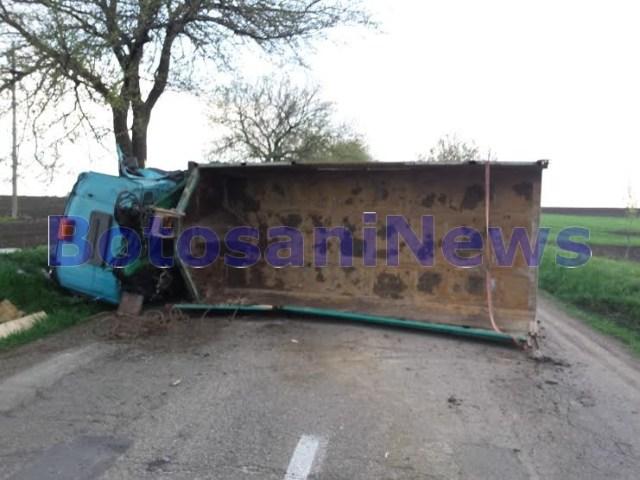 camion rasturnat la Ungureni- Botosani