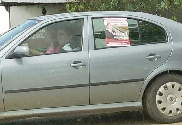 afis electoral pe masina
