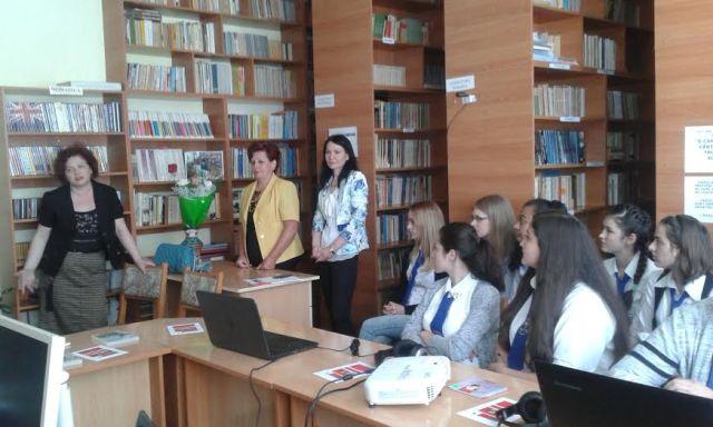 Mediateca elevilor la Liceul Pedagogic - Botosani