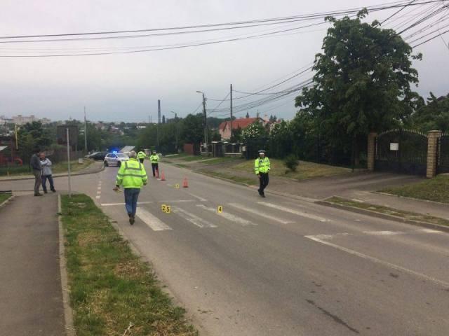 accident pe trecerea de pietoni de pe strada Dobosari, botosani