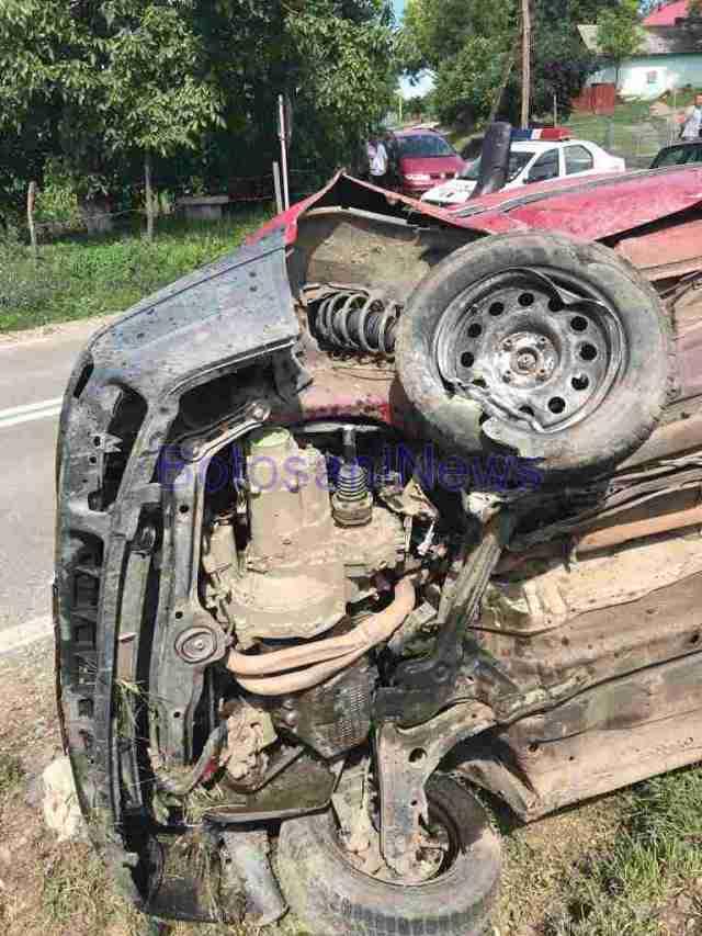 accident masina rasturnata rachiti, stiri, botosaani
