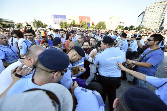 jandarmi, stiri, botosani, violente, proteste