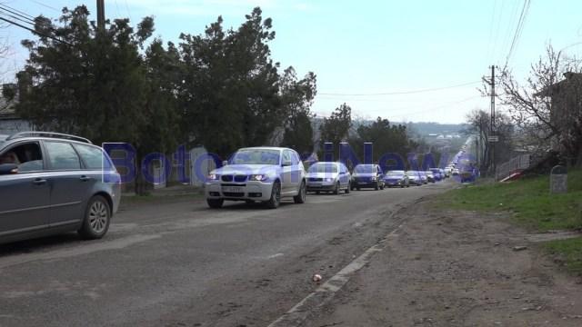 protest masini drumuri proaste la Botosani