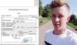 certificat de deces pentru tanarul din Botosani mort in Franta