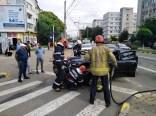 accident pe Calea Nationala din Botosani