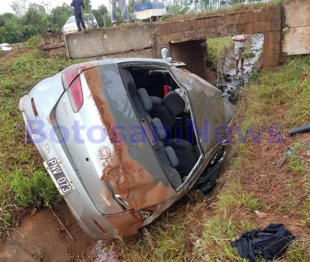 accident la Stefanesti- masina luata de furtuna- Botosani (2)