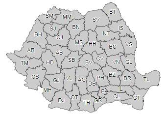 harta de vreme rea in Romania si in Botosani