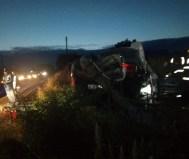 accident cu masina rasturnata in satul Ionaseni din comuna Trusesti - Botosani