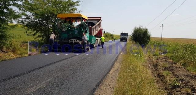 asfaltare drum judetean Botosani - Flamanzi- Prajeni - Iasi