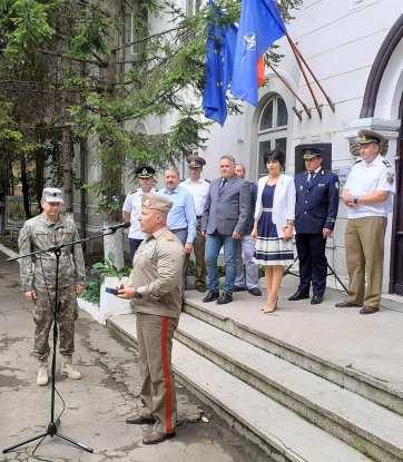 """Comandantul Batalionului 355 Artilerie """"Alexandru cel Bun"""" Botoșani, maiorul Codruț Ștefan Obreja2"""