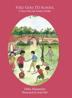 This cover picture shows Viku playing soccer in his school in India