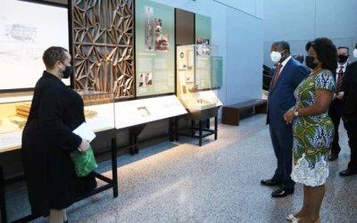 JOÃO LOURENÇO NO MUSEU DA CULTURA AFRO-AMERICANA
