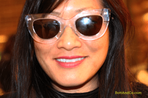 Jill Takahashi trying on these cool shades