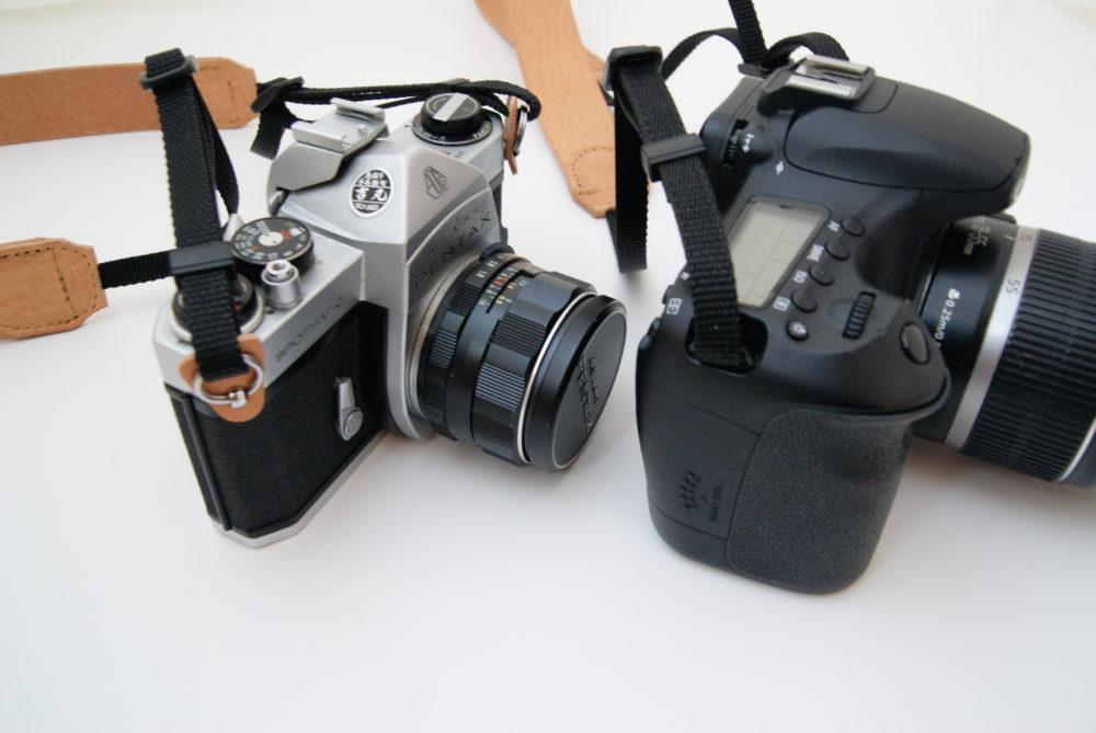 一眼レフにもミラーレスにも使えるカメラストラップ