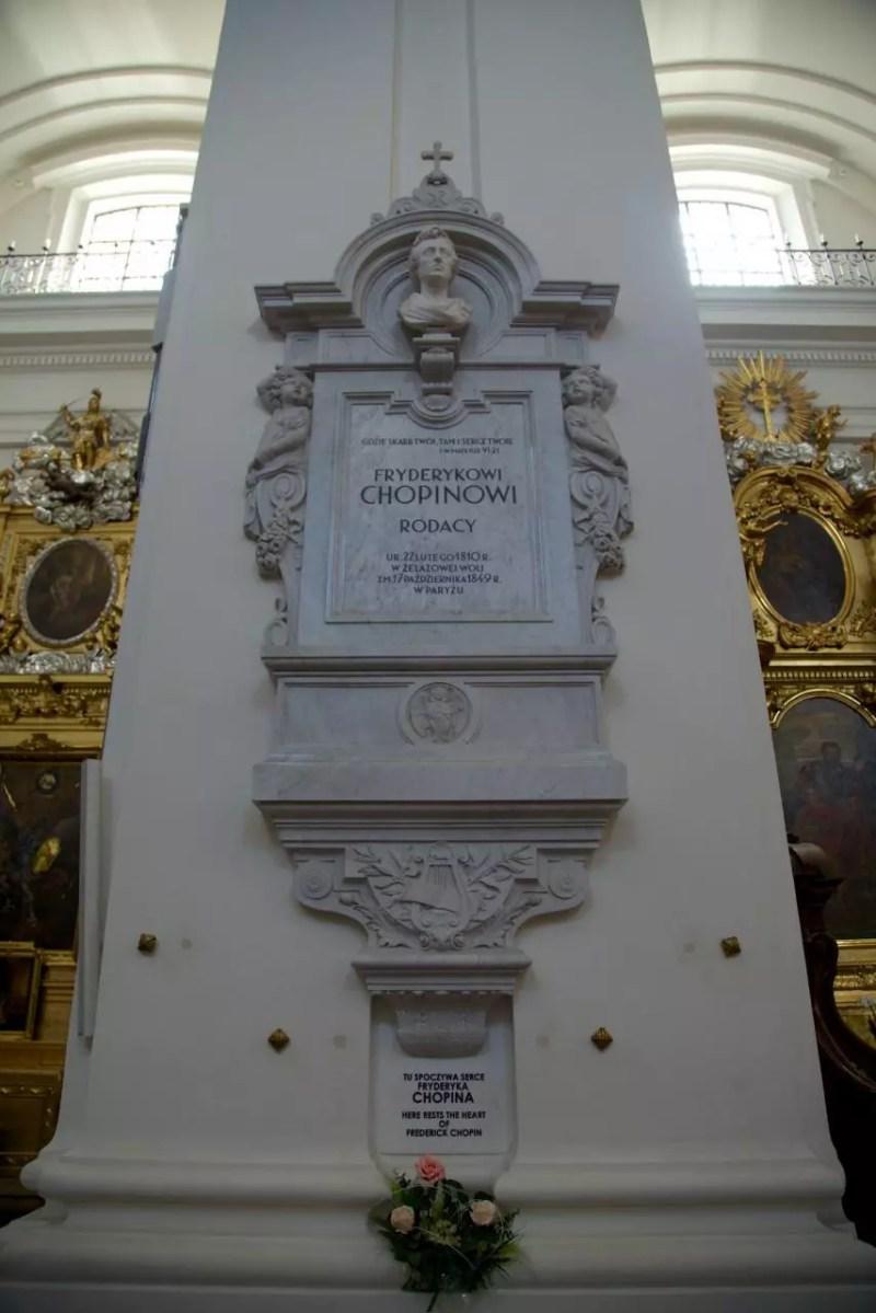 Tomba Cuore Chopin Varsavia