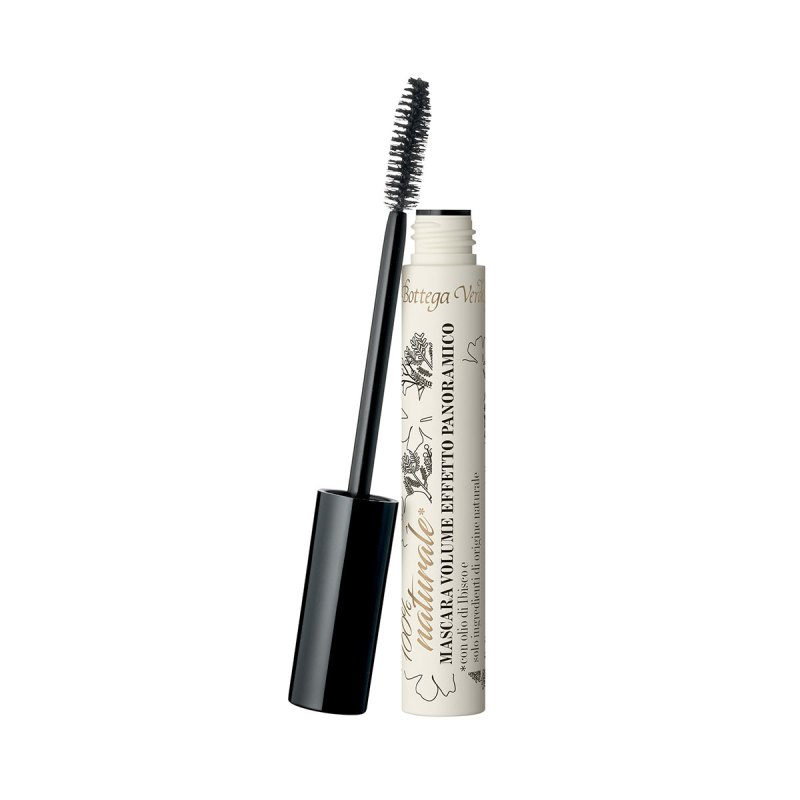Panoramic effect volume mascara - hypnotic black - with Hibiscus oil - delicate and protective