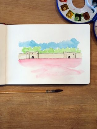 aigues-mortes-watercolor