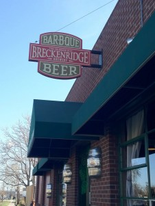Breckenridge Brewery, Taproom and Bar-B-Que in Denver.