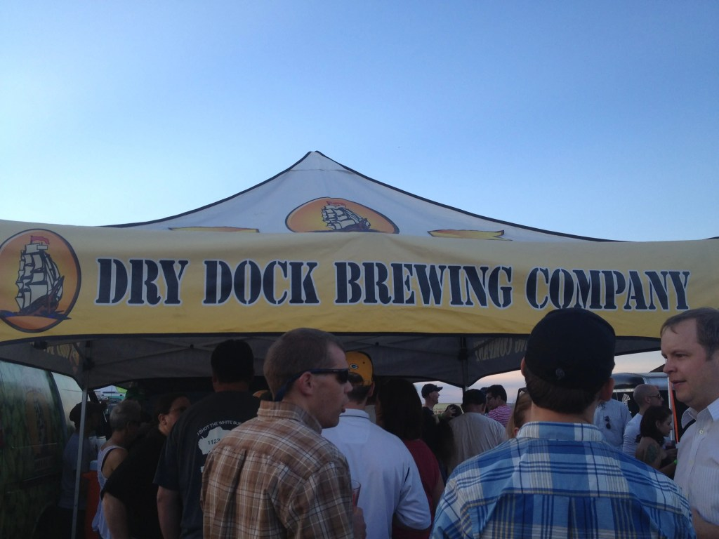 A short line at Dry Dock, at the end of the night. Totally worth the wait!