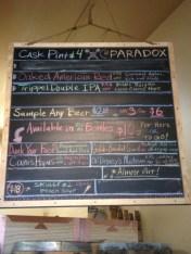 Paradox Beer Co beer selection