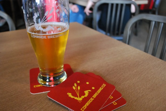 Comrade Brewing Company's Yellow Card Blonde