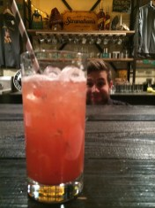Strawberry Rhubarb Splash, with a side of photobomb!