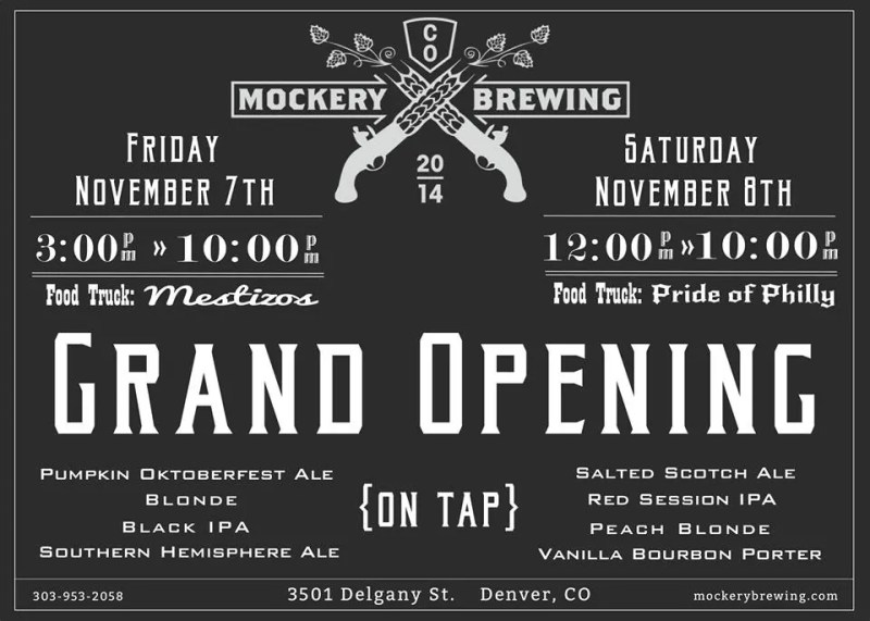 Mockery Brewing Grand Opening