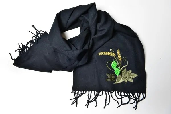 Great Beer Gifts: Hops & Barley Scarf | Bottlemakesthree.com