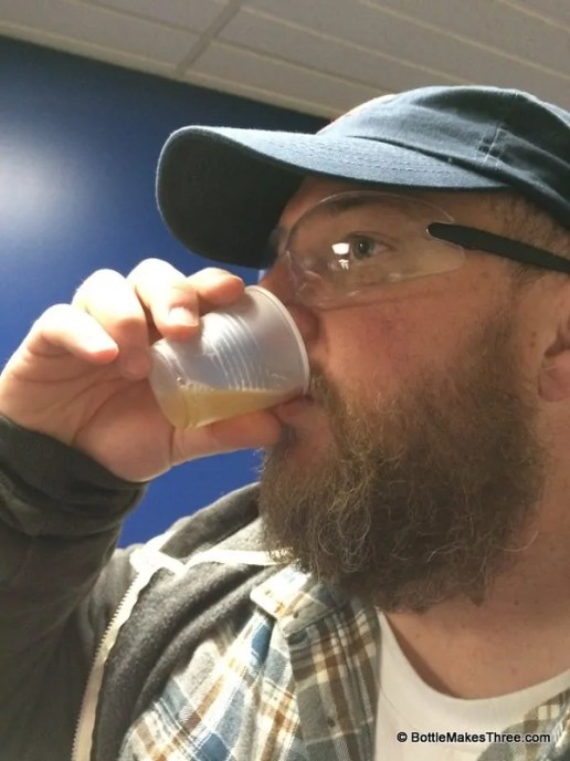 "Tasting some unfiltered, Bud Light ""Chip Beer"" at the Budweiser Tour, Fort Collins Co 