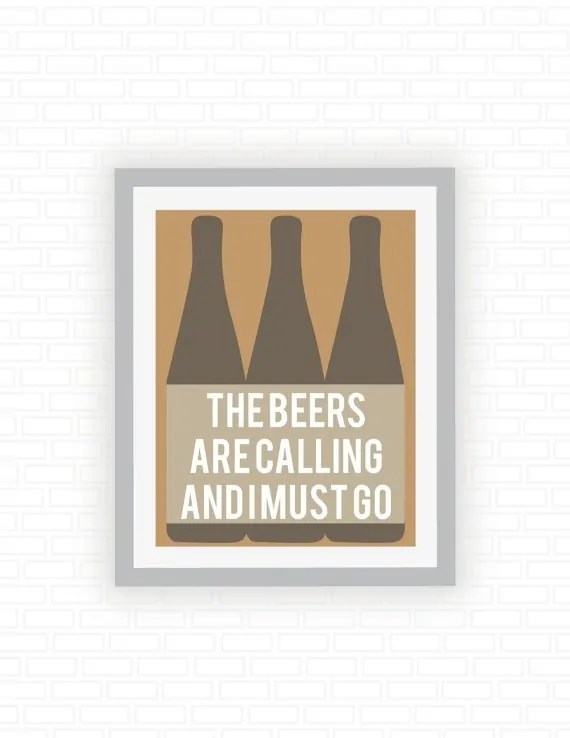 Printable Beer Art from ColorFiles on Esty. Starts at $15   Super-Last-Minute Gifts for Beer Lovers   BottleMakesThree.com
