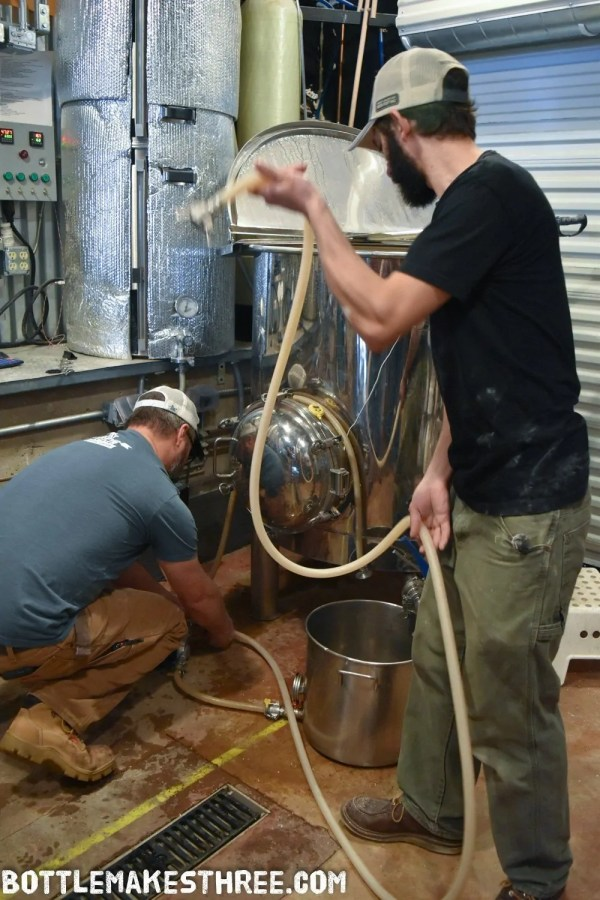 Collaboration Fest brew day with 105 West Brewing and Chain Reaction Brewing | BottleMakesThree.com