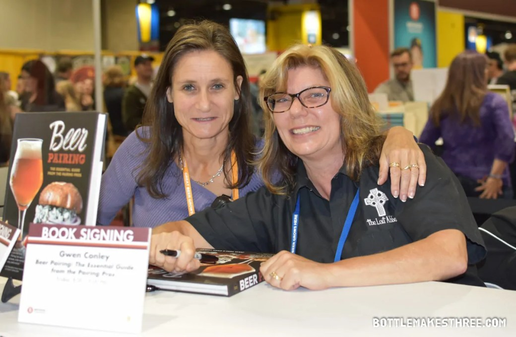 Julia Herz, left, along with Gwen Conley literally wrote the book on food & beer pairings. | A Look Inside the 2017 Great American Beer Festival | BottleMakesThree.com