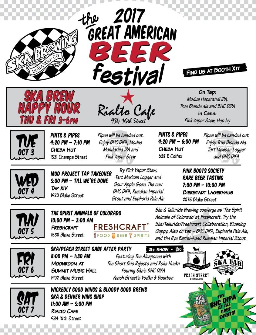 Ska Brewing's Denver events for GABF 2017 | BottleMakesThree.com