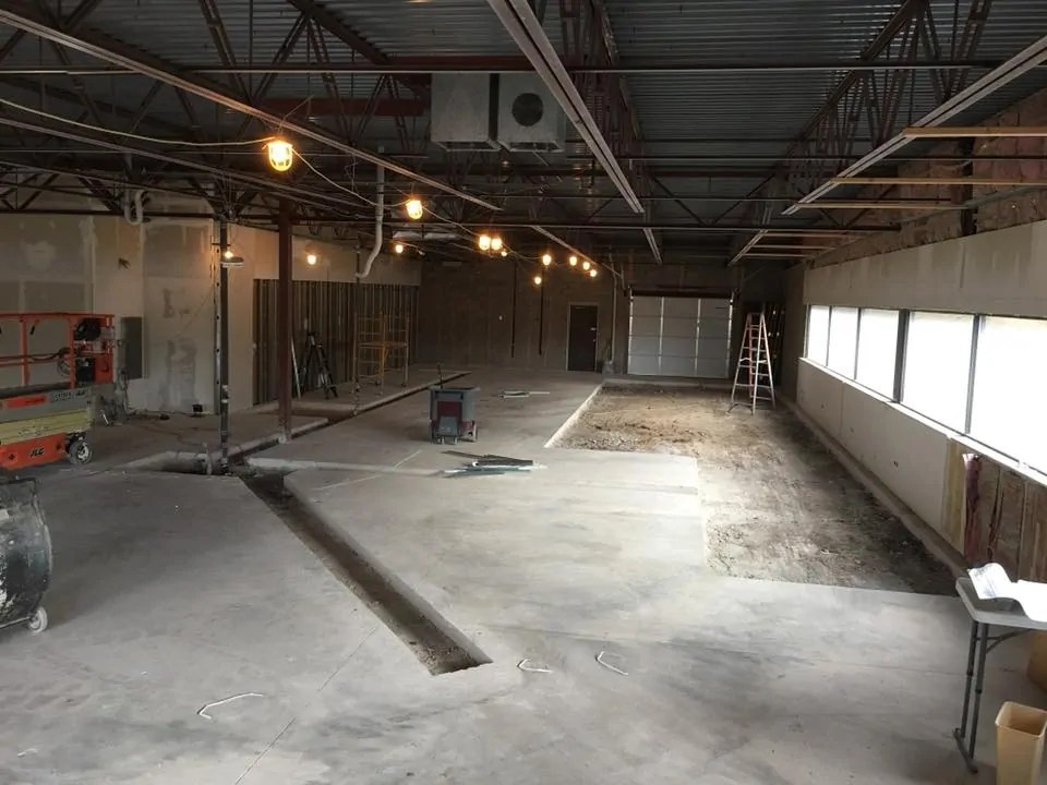 Construction inside Burly Brewing Company, November 2017. Look for Burly Brewing Co to open in Castle Rock in early 2018   BottleMakesThree.com