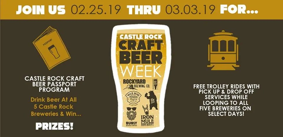 Castle Rock Craft Beer Week - Castle Rock, Colorado - February 25 to March 3, 2019