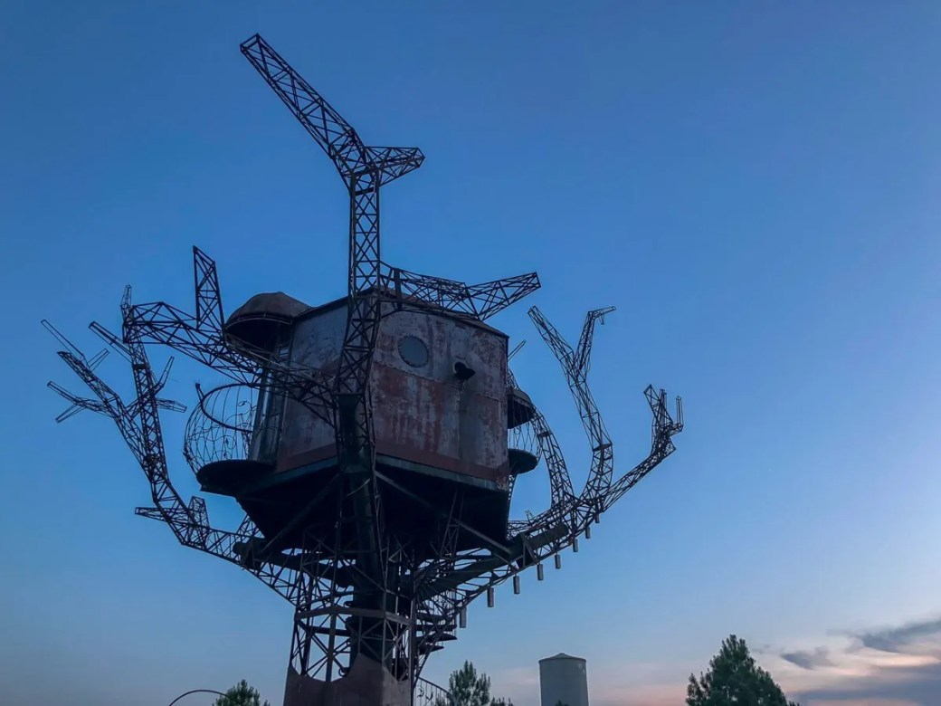 The Steampunk Tree House at the Dogfish Head Brewery in Milton, Delaware