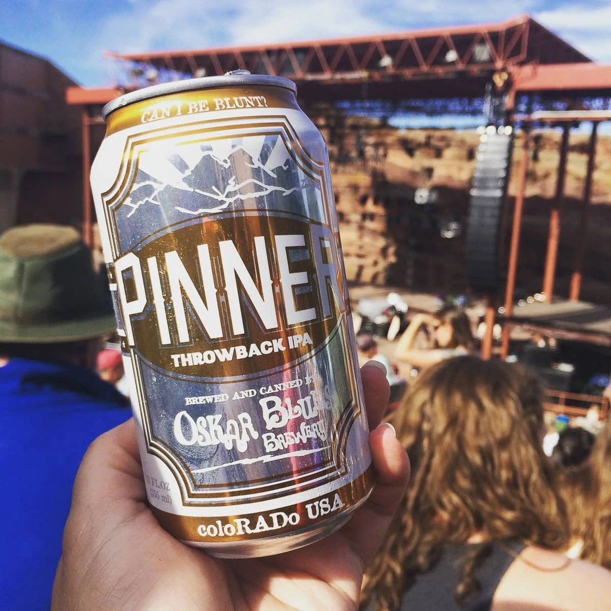 Oskar Blues Pinner IPA at Red Rocks, in Morrison, Colorado
