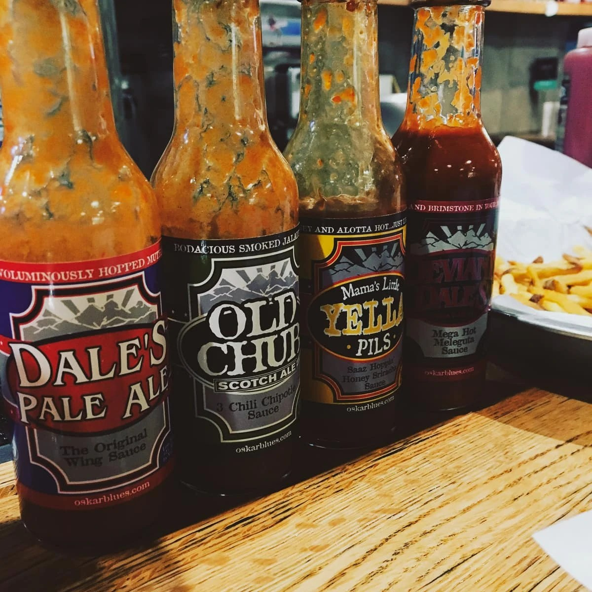 Oskar Blues hot sauces