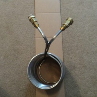 top view stainless steel wort chiller