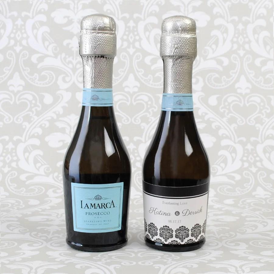 Mini Champagne Bottle Label Template - Mini champagne bottle labels template