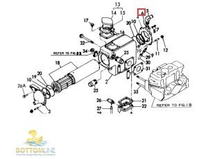Genuine YANMAR 2GM20F 3GM30F 2GMF 3GMF Elbow O ring  24311000160 | Raw water pump & cooling