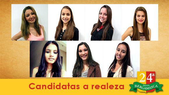 Sete jovens disputam título de rainha da 24º Festa Bergamasca